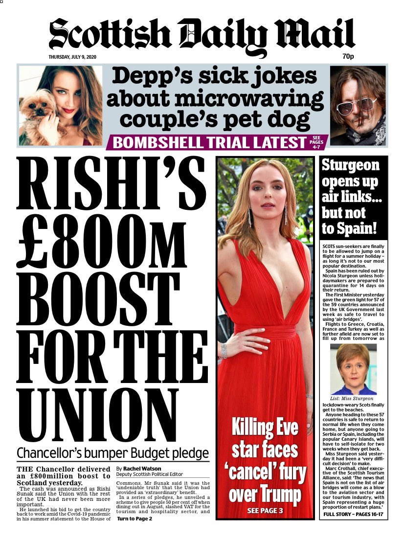 Daily Mail Front Page 9th of July 2020 - Today's Papers