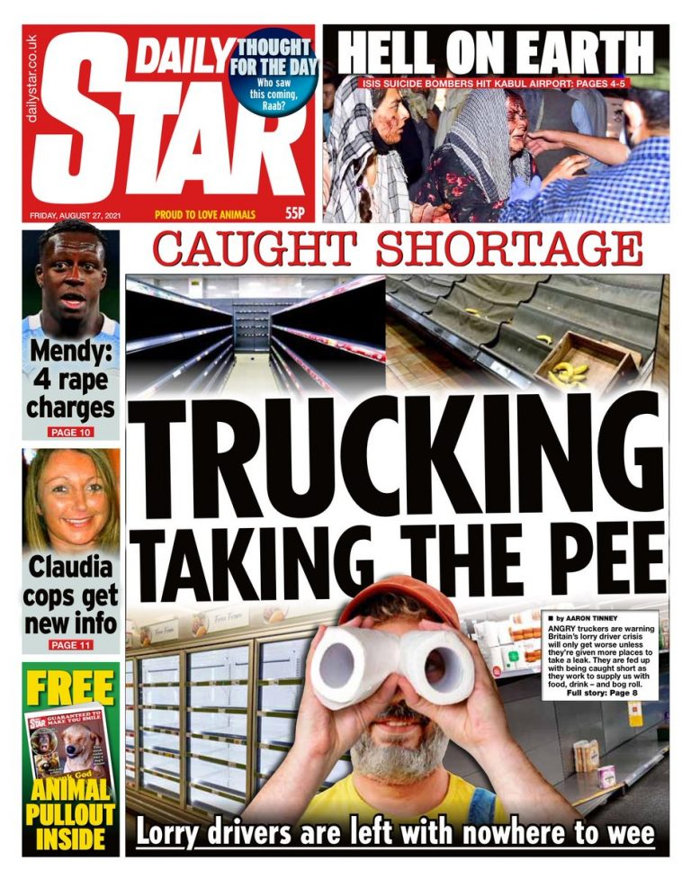 The Daily Stars front page takedown of the government